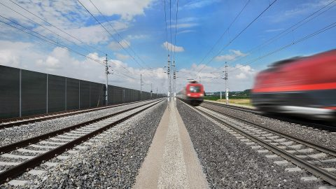 Four-track railway between Vienna and Linz, source: Austrian Federal Railways (ÖBB)