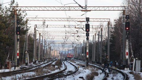 Railway tracks near Braşov