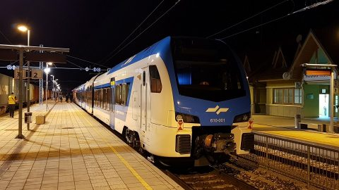 Stadler Flirt diesel train in Slovenia