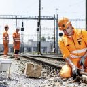 SBB workers maintain tracks, source: SBB