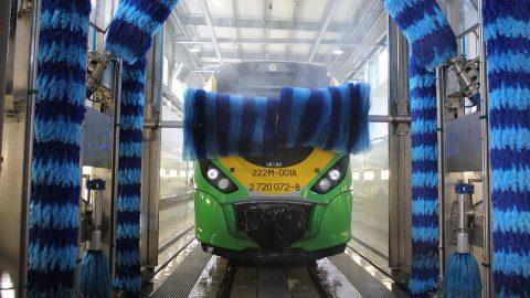 The train wash in Tłuszcz, source: Koleje Mazowieckie