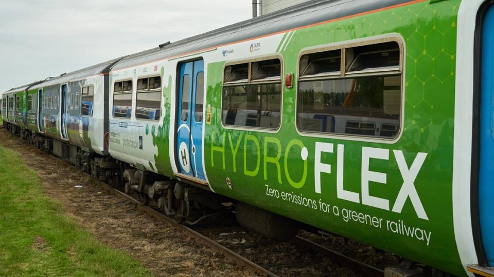 HydroFLEX Class 319 hydrogen train, source: Porterbrook