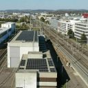 Solar panels at Zürich Seebach railway station, source: SBB