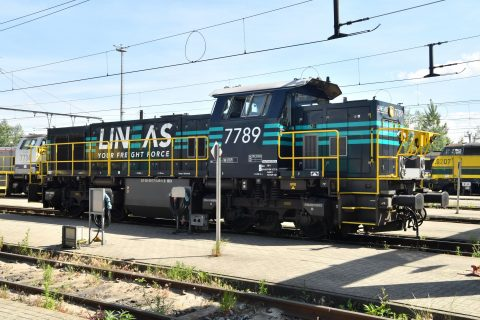 Lineas shunting locomotive ATO, source: Lineas