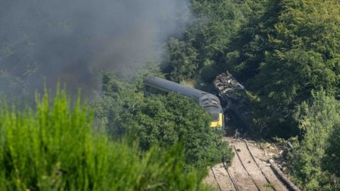 Stonehaven derailment in Scotland, source: Raidió Teilifís Éireann