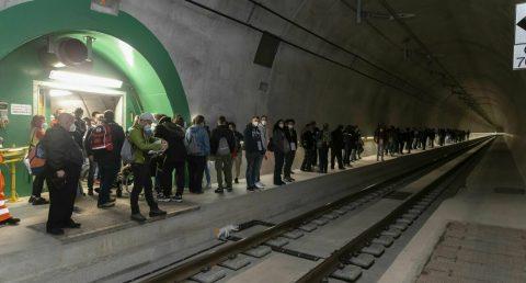 Evacuation exercise of the Ceneri Base tunnel, SBB