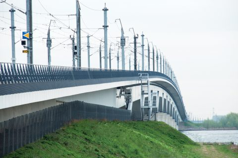 The Railway bridge of the High Speed Railway, the Netherlands