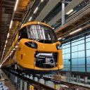 The Intercity Nieuwe Generatie in maintenance facility Watergraafsmeer in Amsterdam