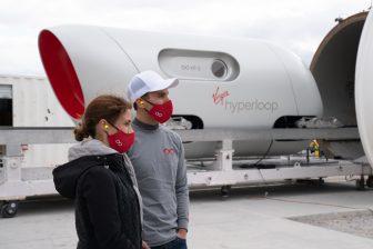 First passengers of a hyperloop test, Virgin Hyperloop