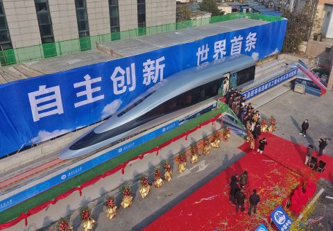 Prototype launch Maglev train in Chengdu, source: ANP