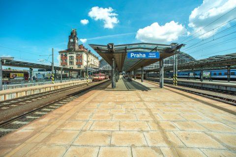 Prague railway station in Czech republic