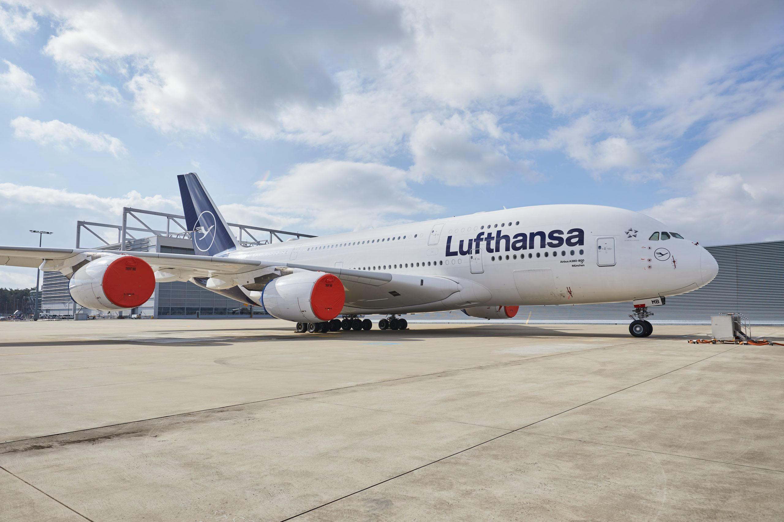 Lufthansa plane at Frankfurt Airport