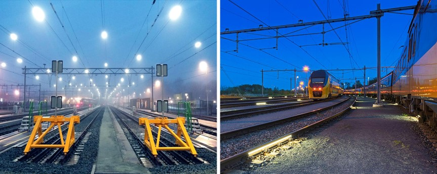 railway siding with RailLight