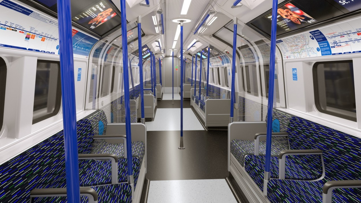 The new London Underground metro train for the Piccadilly line by Siemens Mobility
