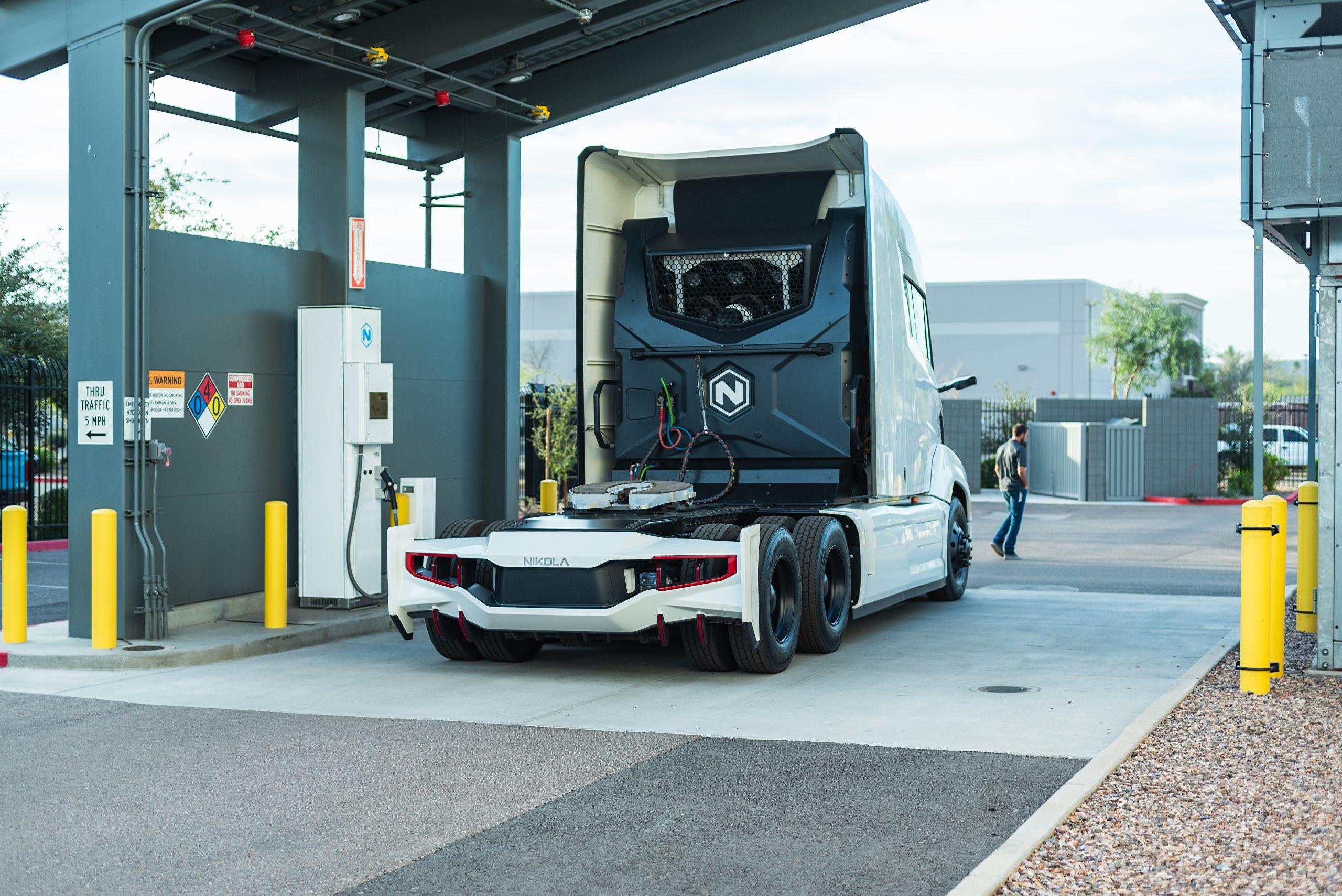 Truck hydrogen fueling station, image: Nikola