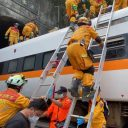 Train derailment Taiwan, Image: EPA/Keelung City Fire Department