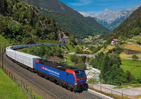 Freight train in Switzerland. Photo: Siemens