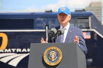 President Joe Biden at Amtrak's 50th anniversary
